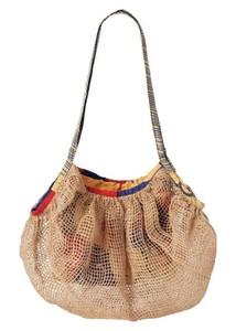 ジュート編み畳みバッグ