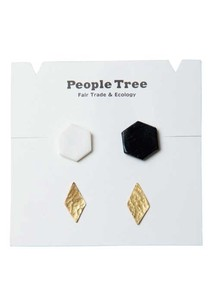 Studs Pierced Earring 4Pcs set