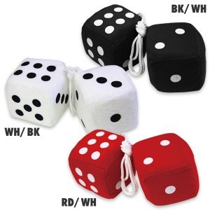 Hanging Dice Mirror Dice