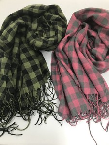 A/W Block Check Stole Perfectly