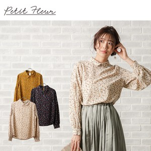 S/S Floral Pattern Tuck Blouse Color