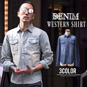 Early Spring Long Sleeve Shirt Denim Shirt