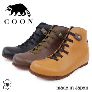 【COON クーン】日本製 レースアップ レザーショートブーツ【5506】