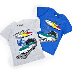 For Summer Kids Jersey Stretch Short Sleeve T-shirt Shinkansen