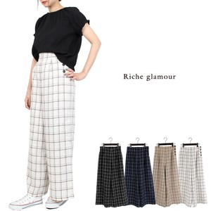 Dyeing Window Pen Checkered wide pants