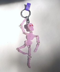 Beauty Relation Sales Promotion Uv Countermeasure Skeleton Key Ring