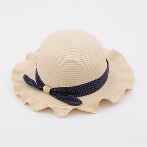 Kids Frill Brim Dot Ribbon Hat