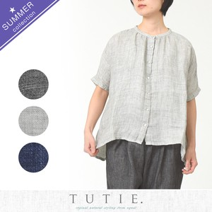 Top Linen Band Dolman Blouse