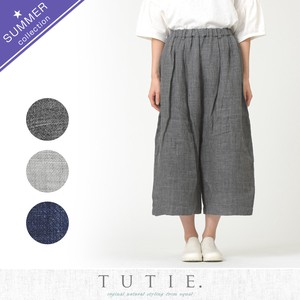 Top Linen Waist Tuck Pants