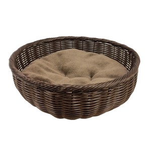 Pet Relation Supply Pet Hand Knitting Round Bed Brown