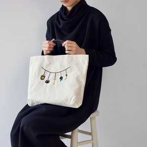 Embroidery Series Charm Nylon Tote Bag