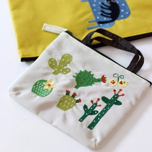 Embroidery Series Cactus Nylon Fancy Goods Compact Storage
