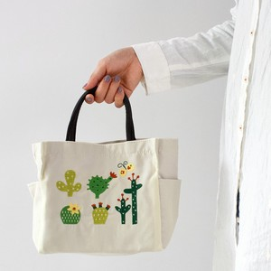 Embroidery Series Cactus Pocket Square Tote