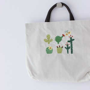 Embroidery Series Cactus Nylon Tote Bag