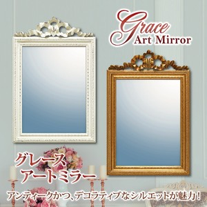 Gray Art Mirror Wall Mirror Decorative Polyresin