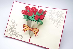 rose Bouquet Greeting Card Postcard