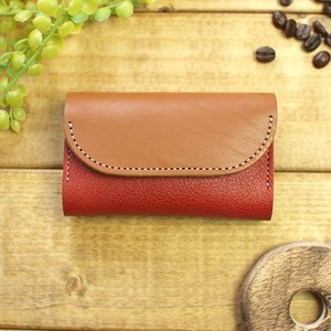 Two Tone Color Genuine Leather Card Case