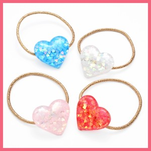 Glitter Hologram Heart Hair Elastic