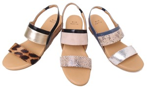 Animal Mix Foot Sandal Heel
