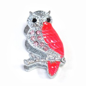 Fancy Stationery Daily Necessity Interior Accessory Glitter Owl Magnet Silver Pink