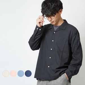 S/S Men's Plain Long Sleeve Dyeing Open Color Shirt