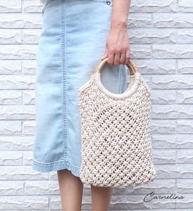 Merry Macrame Bag With gusset Natural Material Bag
