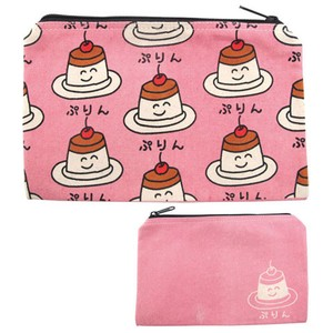 Pouch Purin Cosme Pouch Pencil Case Accessory Case American