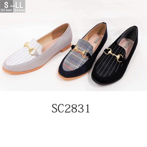 Set Mannish Flat Material Combi Pumps SC