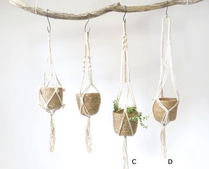 Macrame Hanging Pot 2 type Natural Material