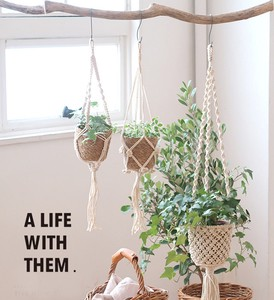 Macrame Hanging Cover Natural Material