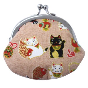Japanese Style Cat Coin Purse 3 Colors Assort