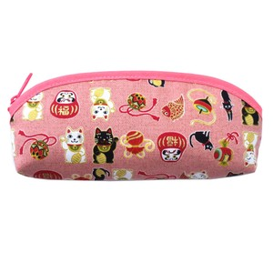 Japanese Style Cat Pen Pouch 3 Colors Assort