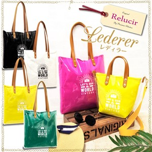 Clear Material Cotton Matching Tote Bag