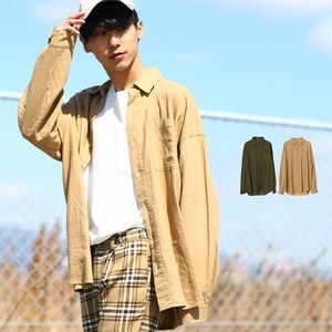 S/S Men's Linen Long Sleeve Big Silhouette Shirt