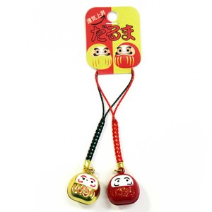 Good Luck Strap Daruma Wrap Red Gold 2Pcs set
