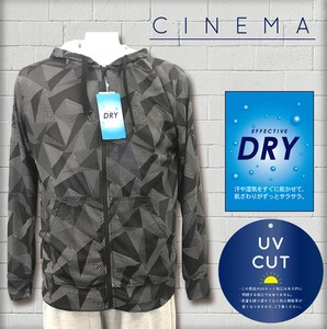 For Summer Dry Mesh Repeating Pattern Print Hoody