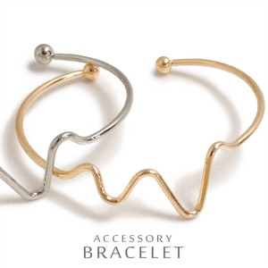 Line Wave Metal Bangle Bracelet