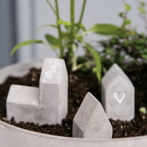 Mini concrete houses 3個セット
