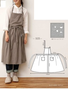 Cotton Linen Gather Apron