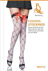 Mesh Frill Lace Knee-high Garter Stocking