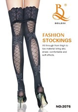 Lace Top Stocking Sexy Tights Garter Stocking Black