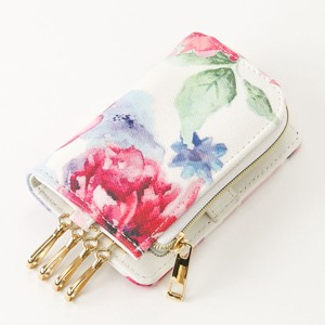 Watercolor flower Key Case Broom Ladies Four in a Row