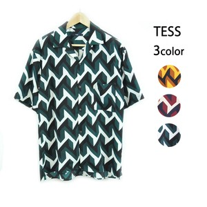 S/S Geometry Open Shirt