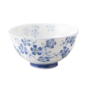 Baby Pink Blue Japanese Rice Bowl Mino Ware