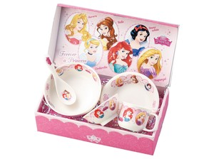 Disney Princes Children Plates & Utensil Gift Set Pottery