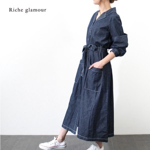 [2019NewItem] Denim Shirt One‐piece dress.