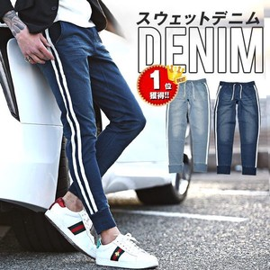 S/S Sweat Denim With Line Pants