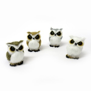 Interior Accessory Objects Fluffy Owl Ornament 4 Colors Assort