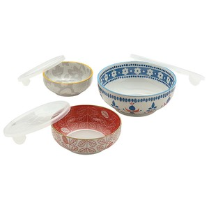 Mino Ware Garden Style Microwave Oven Pack 3-unit Set
