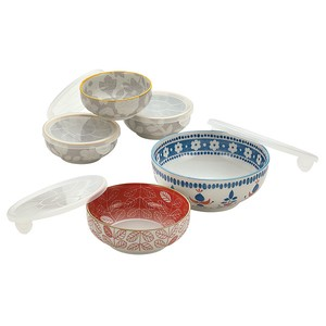 Mino Ware Garden Style Microwave Oven Pack 5-item Set